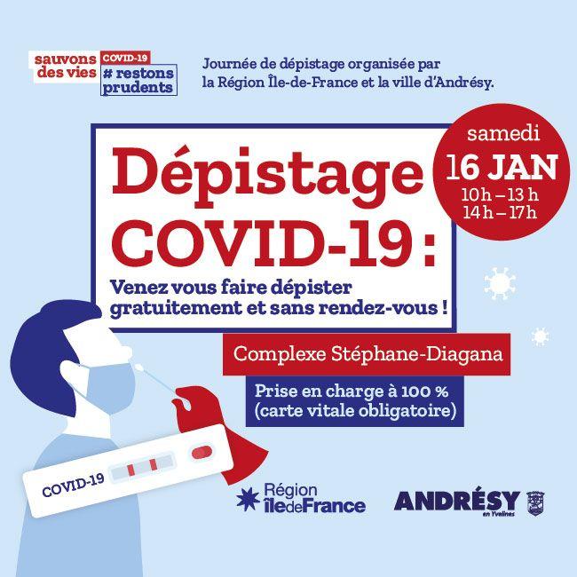 COVID-19 dépistage Andrésy
